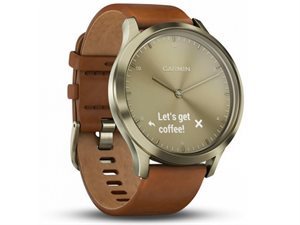Garmin Vivomove HR Premium Gold with Light Brown