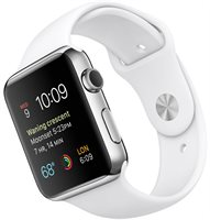 Apple Смарт-часы  Watch 42mm With Sport Band White Stainless Steel Case (MJ3V2)